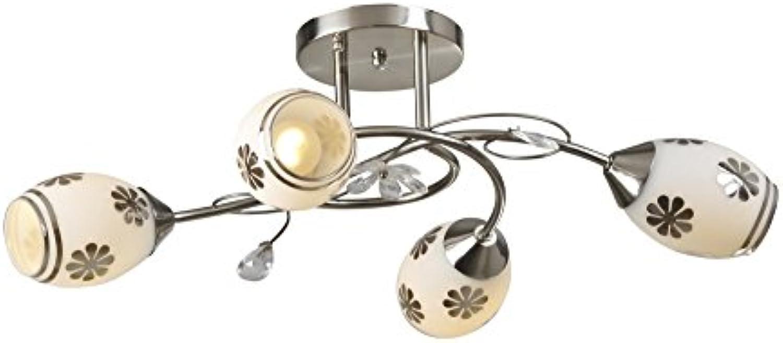Lampex Murcja 4 294 4 Kronleuchter aus Metall, E27, Braun