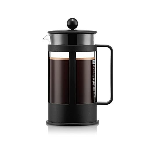 BODUM Kenya 8 Cup French Press Coffee Maker, Black, 1.0 l, 34 oz