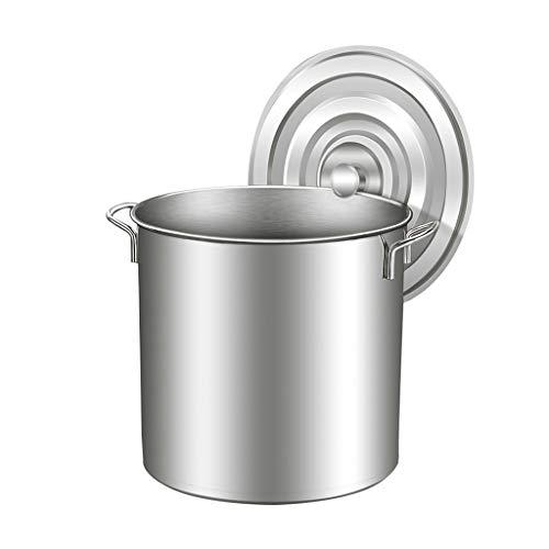 60 litros Acero Inoxidable Stock Pot - Grande de la Olla, Tapa de Acero Inoxidable, de Gran Capacidad, fácil de Limpiar (Size : 46.5 * 45cm(60L))