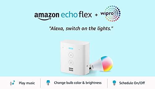 Echo Flex bundle with Wipro 9W Smart LED Bulb