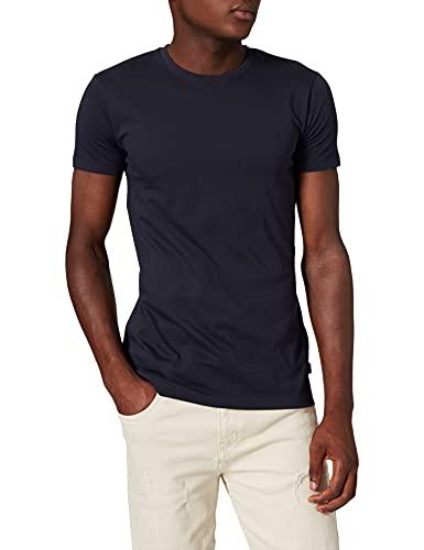 ESPRIT Herren Rundhals Basic T-Shirt, 400/NAVY-New Version, L
