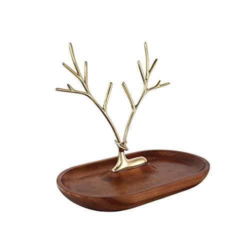 Cajas Soporte de exhibición Bandeja Soporte de Almacenamiento de árbol Colgante para aretes, Collares, Colgantes, cofres de Pulseras
