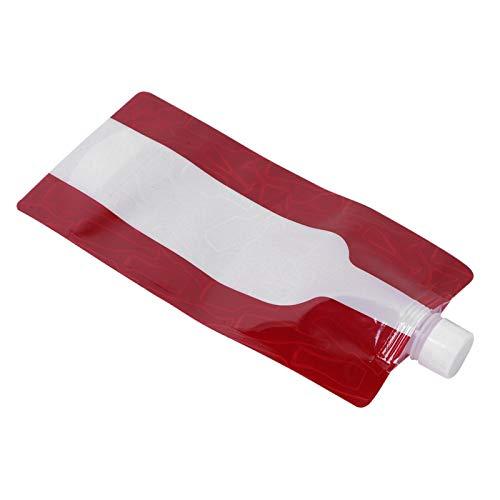 SALUTUYA PE 750ML Bolsa de Botella de Agua Plegable de Gran Capacidad Fuerte Resistencia a la hidrólisis, antibacteriana e Inodoro, Bolsa de Agua Segura para Exteriores, para Acampar al Aire Libre