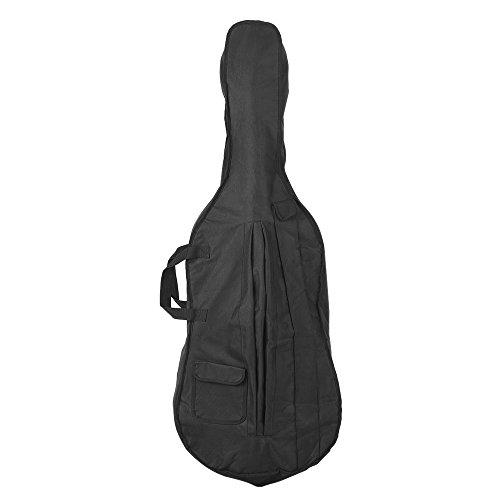 ammoon Tragbarer 4/4 & 3/4 Cello Gig Tragetasche Kasten-Rucksack verstellbarer Schultergurt Schwarz