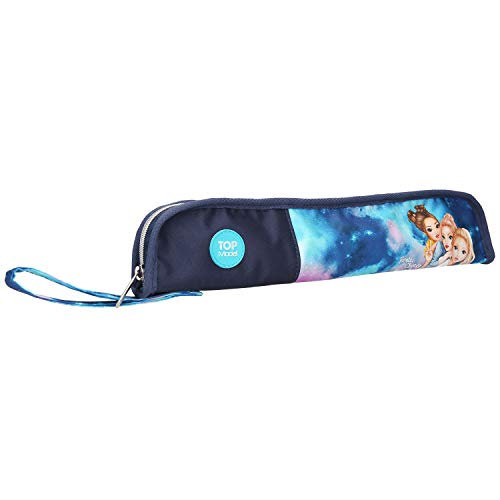 Depesche 10762 Flötentasche TOPModel Aquarell, blau, ca. 8 x 36 x 2,5 cm