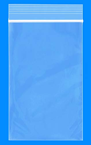 """Spartan Industrial - 3"""" X 5"""" (200 Count) 2 Mil Clear Reclosable Zip Plastic Poly Bags with Resealable Lock Seal Zipper"""