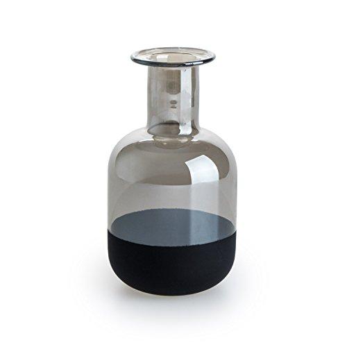 Black Velvet Studio Jarrón Vidrio Decorativo Color Marrón Cristal Estilo Botella– Florero Moderno Vintage para Hogar Oficina Sala Mesa Dimensiones Pequeñas Modelo Brown Bottle 16 * 9 * 9 cm.