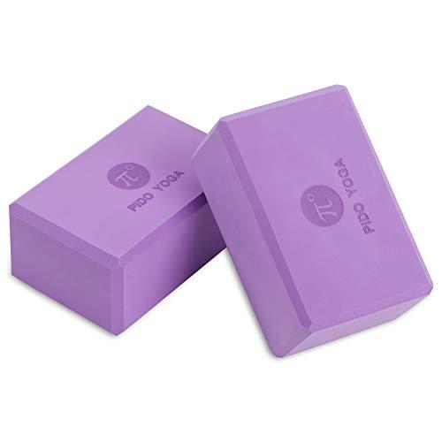 PIDO YOGA 7,6 x 15,2 x 22,9 cm EVA blocco yoga esercizio pilates palestra sport schiuma mattoni stretching aiuto corpo formando yoga aiuti (viola)