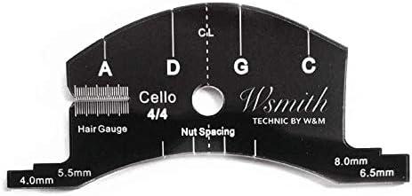 Cello bridge template
