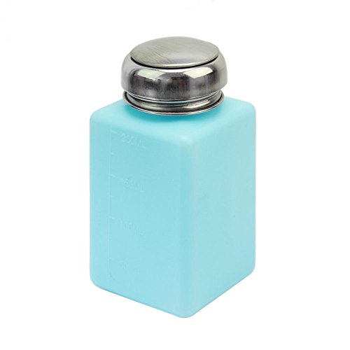 Generic 200 ml Kunststoff PE antistatisch leere E-Flüssigkeit Alkohol Flüssigkeit Flasche Aceton Methanol Push Down Spender Behälter Behälter Behälter Organizer