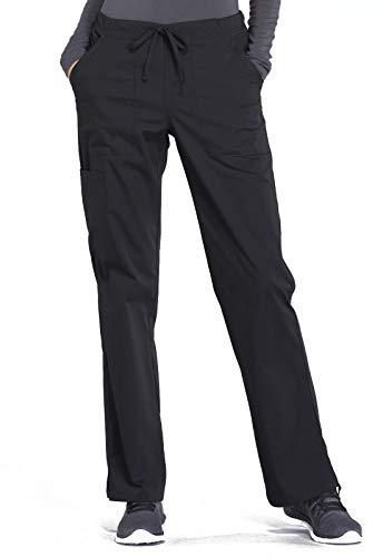 CHEROKEE Workwear WW Professionals Mid Rise Straight Leg Drawstring Pant, WW160, 5XL, Black