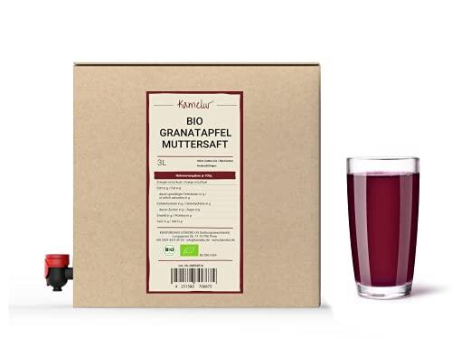 3 litri di succo di melograno BIO - 100% succo diretto di melograno BIO senza additivi - succo di melograno in pratica scatola di succo di frutta