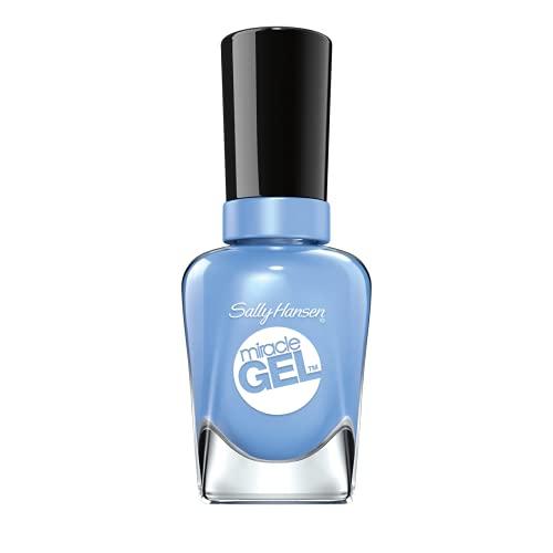 Sally Hansen Miracle Gel Nail Polish At-home gel manicure, Sugar Fix, Blue Shades - 14.7ml
