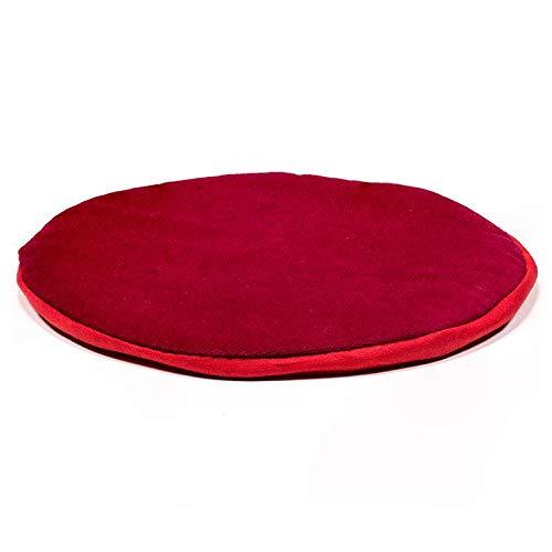 Flaches Kissen für Klangschale rund rot - 15x1 cm