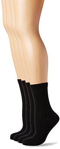 Dim Mi-Chaussette Coton 3 Paires + 1 Gratuite, Noir (Noir/Noir/Noir/Noir), (Taille Fabricant: 35/38) (Lot de 4) Femme