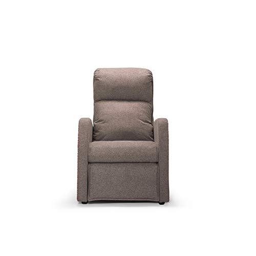 Sillón Relax | Cleopatra | gris claro | Fabricado en Italia