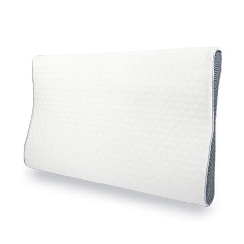 MyComfy Almohada ortopédica (fina) de espuma viscoelástica, 60 x 34 cm, para dormir de lado y de espalda