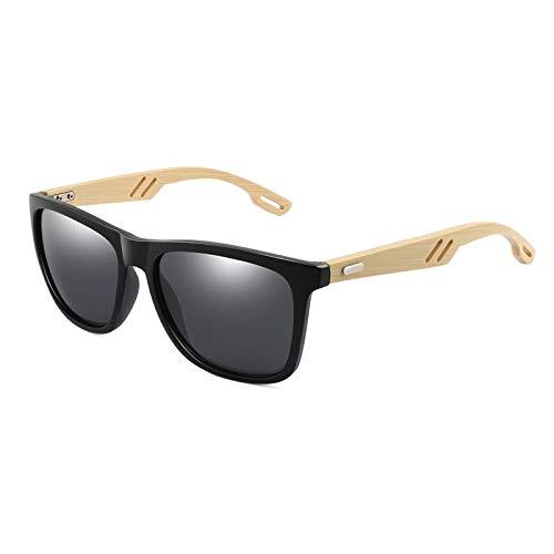 Sunglasses Diseño Gafas De Sol De Madera De Bambú Mujeres Hombres Gafas De Sol Cuadradas Vintage Gafas De Sol con Revestimiento De Moda Espejo Uv400 03