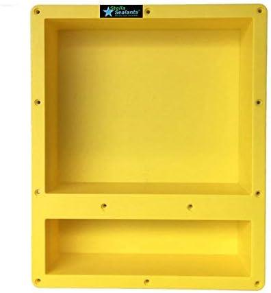 Shower Niche Double Shelf 24