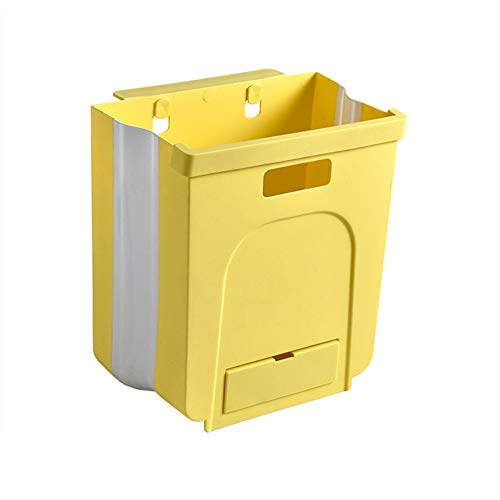 YUOKI99 opknoping prullenbak voor keuken kast deur, inklapbare prullenbak opvouwbare afval Bins, draagbare vuilnis kan worden bevestigd aan kast deur keuken lade slaapkamer slaapzaal, auto afval Bin