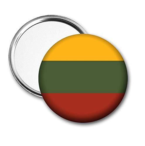 Litouwen Vlag Pocket Spiegel voor Handtas - Handtas - Cadeau - Verjaardag - Kerstmis - Stocking Filler - Secret Santa