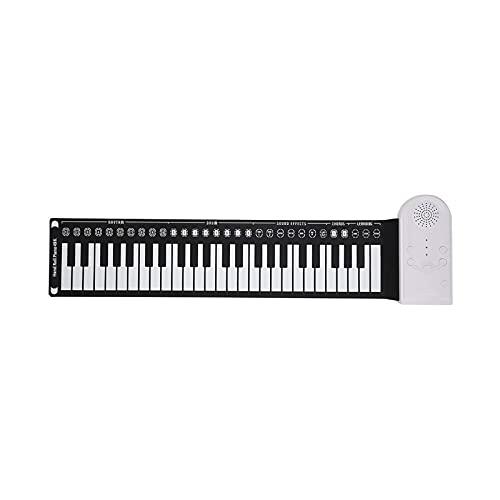 ELXSZJ XTZJ Piano de Roll-up, Piano portátil de Rollo de Mano electrónico con Altavoz Incorporado, Mejorado de Silicona Impermeable Plegable Piano Teclado para Principiantes y niños