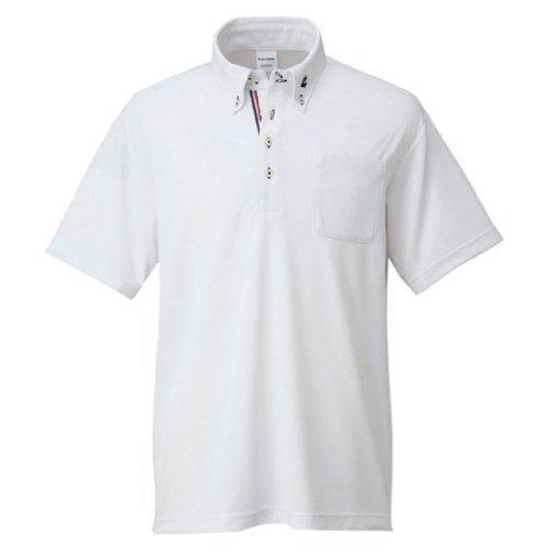 [コンバース] バスケットボール シャツ ボタンダウンシャツ 吸汗 速乾 CB231402 メンズ ホワイト 日本 L (日本サイズL相当)