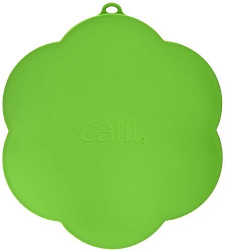 Catit Silikonmatte in Blumenform, wasserdichte Unterlage für Trinkbrunnen, 30cm, grün