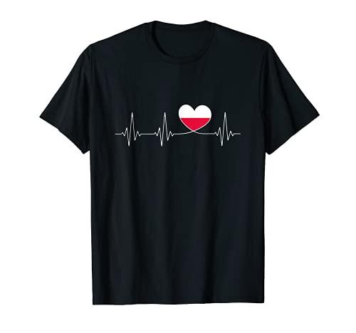 Polska Liebe als polnischer Patriot mit Herz Flagge Polen T-Shirt