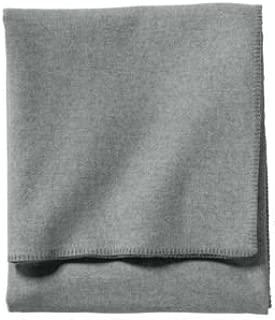 Pendleton - Eco-Wise Washable Wool Blanket, Grey Heather, King