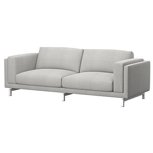 Soferia - IKEA NOCKEBY Funda para sofá de 3 plazas, Glam Light Grey