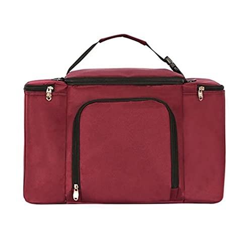 XYX Cesta de Picnic de Aislamiento portátil, Bolsas de Almuerzo aisladas, Paquete de conservación de Calor de Salida al Aire Libre Bolsa de Almuerzo (Color : Wine Red, tamaño : 45 * 22 * 28cm)