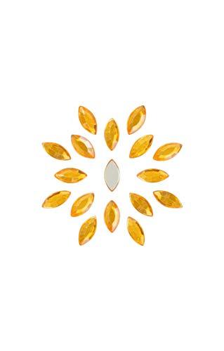 BOUTIQUE DES COULEURS Sachet de 20 Perles Strass cabochons 15x7x2,7mm navettes a facettes a Coller Acrylique Couleur Orange Clair - Livraison Gratuite - Creations Perles