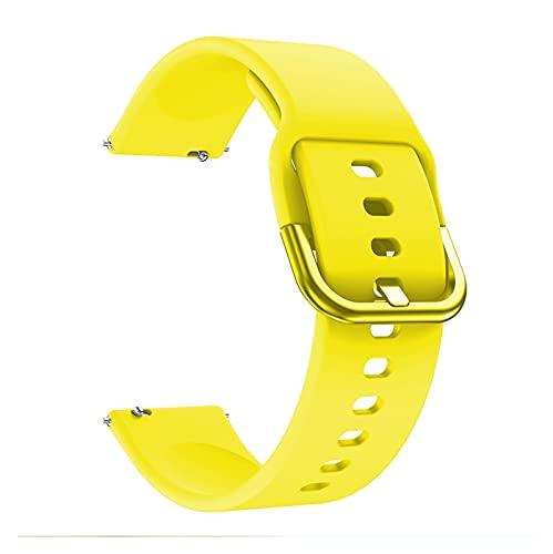 LXF JIAJU Correa para La Correa De Reloj De Reemplazo Impermeable De La Muñeca De Silicona Suave De Versa 2 Band para Versa/Versa 2 / Versa Lite Correa (Color : Yellow, Size : For Fitbit Versa 2)