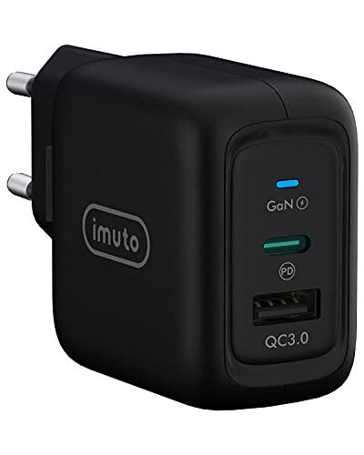 Cargador USB C 65W , Cargador Móvil USB C Power Delivery 3.0 Carga Rápida y USB QC 3.0 para13''MacBook Pro, iPhone 12/12 pro/12 pro max/11/11 pro max, iPad, Huawei, Xiaomi, Samsung y Más
