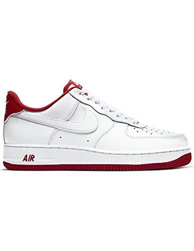 Nike Air Force 1 '07 1, Zapatillas de básquetbol para Hombre, White Univ Red, 44 EU