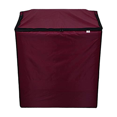 GURU-ISHMA Wateproof Top Load Semi Automatic Washing Machine Cover for (LG - Life Good) 8.5kg, 9kg, 9.5kg Model (Maroon)…