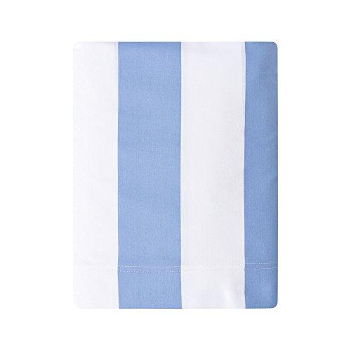 Essix - Drap Plat Holidays Satin de coton Bleu Provence 240 x 300 cm