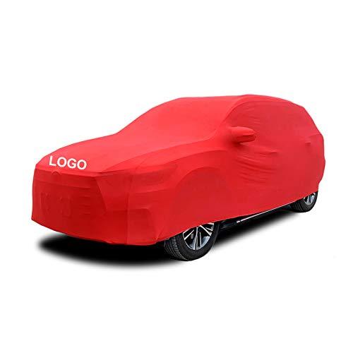 LCYNCX Fundas para Coche Compatible con Mercedes Benz GLA45 AMG, Elástica Y Transpirable, A Prueba De Polvo, Suave, Terciopelo, Utilizada En Garajes Subterráneos, Ferias De Automóviles Rojo