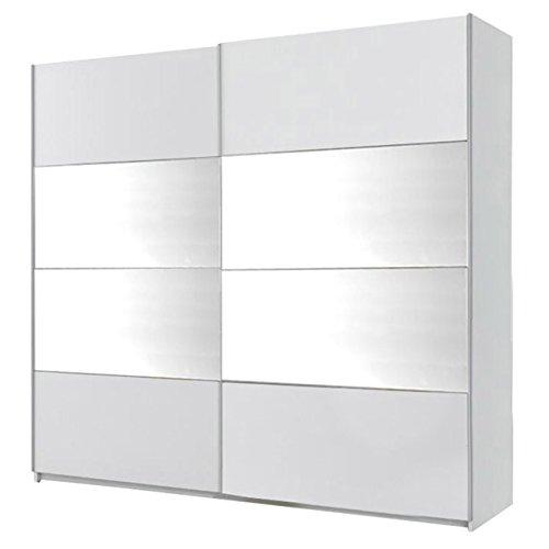Mirjan24 Kleiderschrank Bora II, Elegantes Schlafzimmerschrank mit Spiegel, Schwebetürenschrank für Schlafzimmer, Jugendzimmer, Schiebetür (220 cm,...