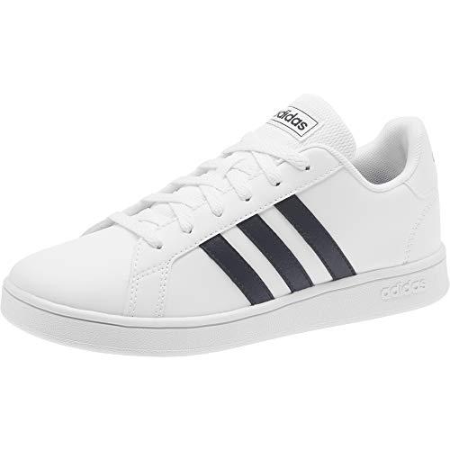 adidas Grand Court, Zapatillas Unisex niños, Blanco/Negro/Blanco, 30.5 EU