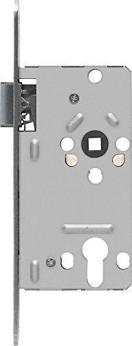 ABUS 210389 Tür-Einsteckschloss Profilzylinder TKZ20, für DIN-links Türen, silber