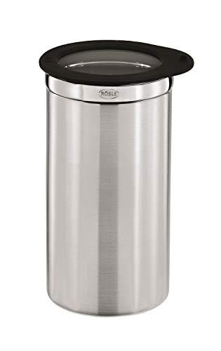 RÖSLE Kaffeedose mit Frischhaltedeckel, Hochwertige Dose zum Aufbewahren von 500 g Kaffee oder anderen Lebensmitteln, Edelstahl 18/10, Spülmaschinengeeignet, 10 cm