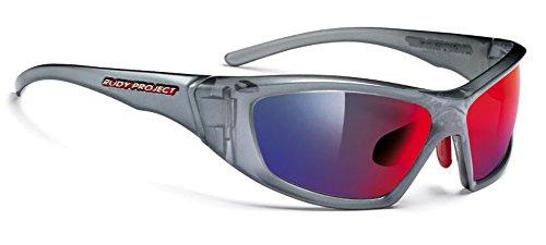 RUDY PROJECT Sonnenbrillen GUARDYAN SN 16 Mirror Gun/Multilaser Red Elastic Strap einzige Größe Herren