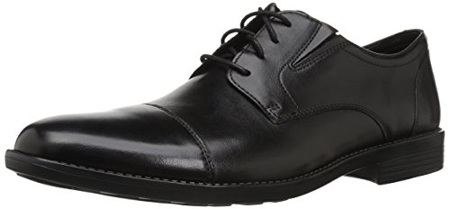 Bostonian Mens Birkett Cap Oxford, Black Leather, 10.5 M US
