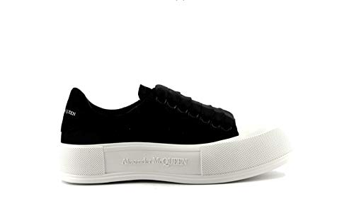 Alexander McQueen Plimsoll Black/White Sneakers/Authentic SS21 (Numeric_10_Point_5)