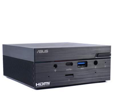 ASUS PN50 MiniPC Barebone with AMD Ryzen R5-4500U 6 cores Processor with DisplayPort, HDMI, 2 USB-C (DP Alt Mode), WiFi 6 Support