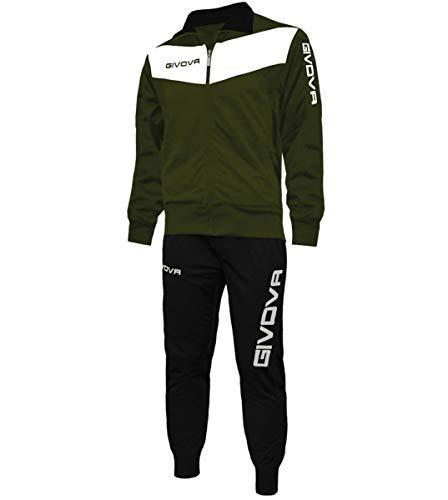 Giosal Completo Tuta Sportiva GIVOVA Uomo Donna Unisex Relax Sport Allenamento Running Visa-Verde Militare-L