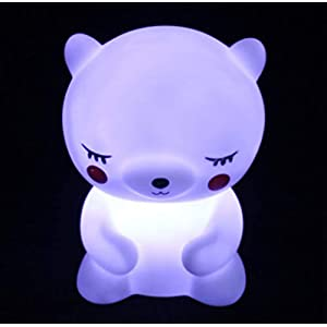 Cute Night Light for Kids Baby Led Nursery Bedroom Lamp Led Bedside Sleep Mood Nightlight Dinosaur Unicorn Bear Toy Gift for Children Toddler