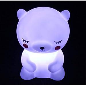 Cute Night Light for Kids Baby Led Nursery Bedroom Lamp Led Bedside Sleep Mood Nightlight Dinosaur Unicorn Bear Toy Gift for Children Toddler